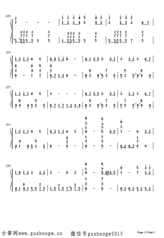 森林狂想曲 Forest Rhapsody 简谱 需改编