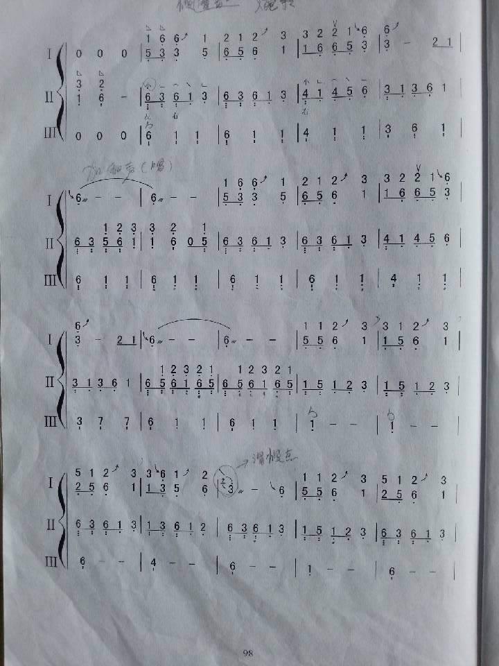 云之南 古筝曲谱